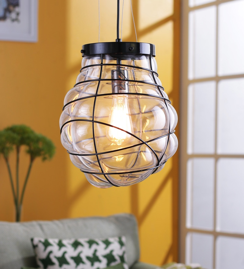 Jainsons Emporio Cage Transparent Glass Pendant Lamp