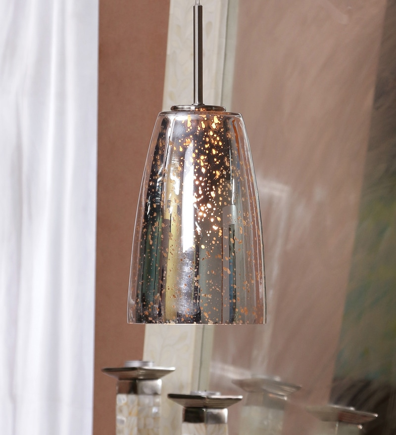 Cleome Silver Metallic Finish Pendant Lamp by Jainsons Emporio