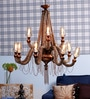 Jainsons Emporio Brown Rope and Glass Chandelier