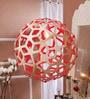 Jainsons Emporio David Trubridge Red & Silver Bamboo Pendant Light