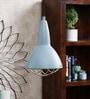 Grey Metal Grid Pendant Lamp by Jainsons Emporio