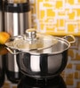 Jaipan Silver Stainless Steel 3 L Casserole with Steel Lid