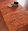 Jaipur Rugs Pumpkin Red Wool 60 x 96 Inch Solid Area Rugs
