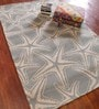 Asterlane Seaside Blue & Cloud White Wool 60 x 96 Inch Abstract Area Rugs