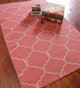 Asterlane Tea Rose & White Wool 60 X 96 Inch Carpet