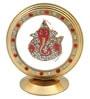 JaipurCrafts Lord Ganesha Chakra Golden & Red Aluminum Showpiece