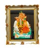 JaipurCrafts Multicolor Plastic 5.9 x 7.1 Inch Framed Radha-Krishna Showpiece