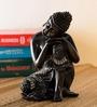 JaipurCrafts Black Polyresin Gautam Buddha Showpiece