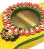 JaipurCrafts Multicolour Wooden Kundan Kairi Roli Tikka Chopra