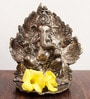 JaipurCrafts Silver Aluminum Lord Ganesha with Deepak Statue