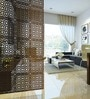 Wenge Acrylic with Wooden Lamination Circular Room Divider by Planet Decor