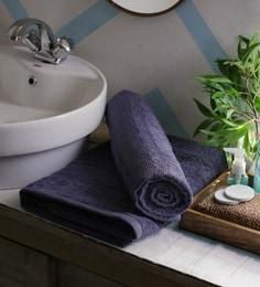 JBG Home Store Grey 100% Cotton 30 X 72 Inch Bath Towel - Set Of 2