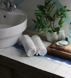 JBG Home Store White 100% Cotton 16 X 24 Inch Hand Towel - Set Of 2