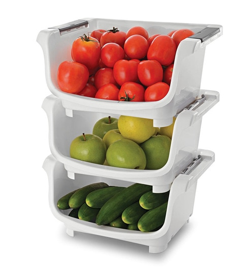 Plastic Kitchen Stack Store Kitchen Basket Set Of 3 By Jb S