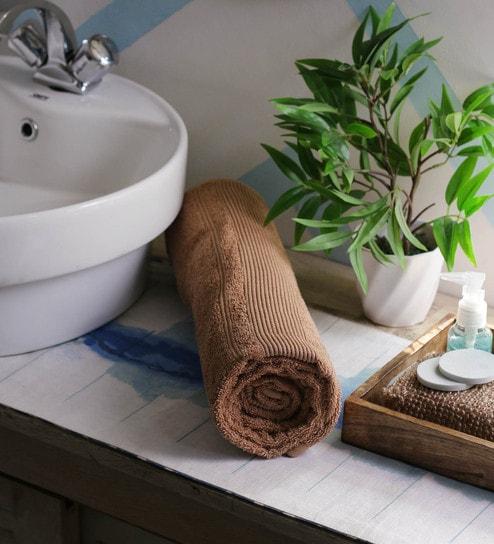 Buy JBG Home Store Beige 100% Cotton 30 x 72 Inch Bath Towel - 1 ...