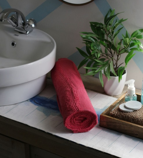 Red Towels Bathroom: Buy JBG Home Store Red 100% Cotton 30 X 60 Inch Bath Towel