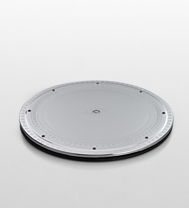 Jb'S Wonder Disc Silver ABS Plastic Plate