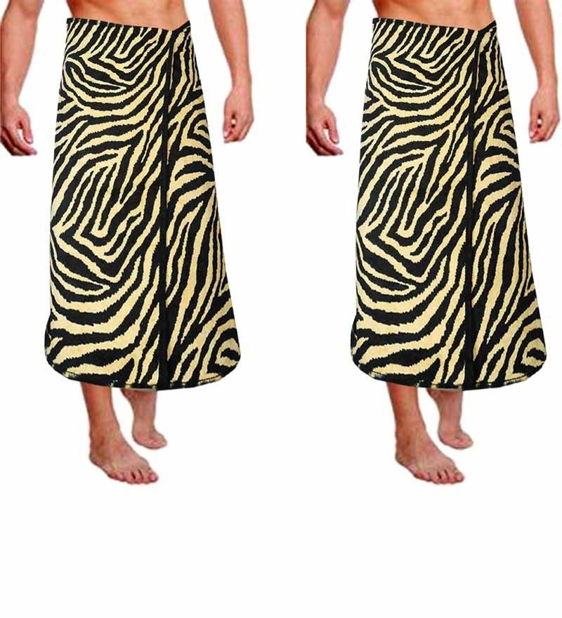 Buy JBG Home Leopard Print Cotton Bath Towel - Set of 2 ...