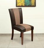 Jenn Dining Chair with Cushion in Walnut Colour