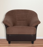 Jennifer One Seater Sofa in Brown Colour