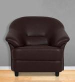 Jennifer One Seater Sofa in Brown PVC