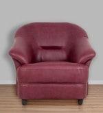 Jennifer One Seater Sofa in Maroon Colour