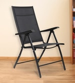 Jet Folding Chair in Black Colour