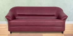 Jennifer Three Seater Sofa in Maroon Colour