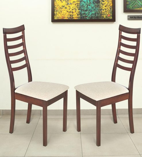 Buy Jessica Dining Chair (Set of 2) in Indian Mahogany Finish by ...