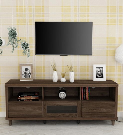 Jett Tv Unit With Drawers In Venus Brown Finish By Home