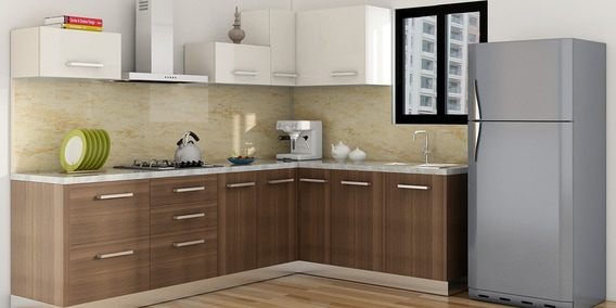 L Shaped Modular Kitchen Buy L Shaped Kitchen Design Online In