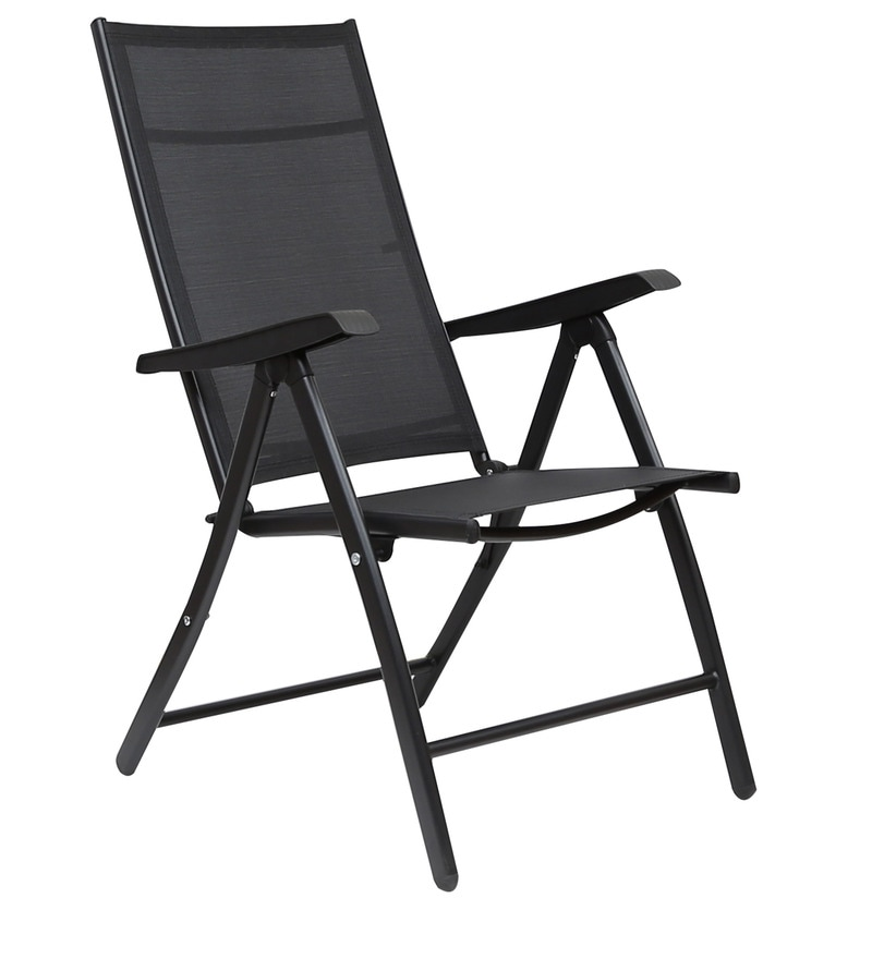 Buy Jet Folding Chair In Black Colour By Hometown Online