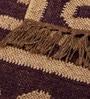 Carpet Overseas Brown Cream Jute 24 x 36 Inch Flat Weave Dhurrie