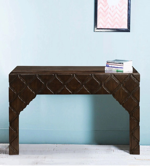 Jharokha Console Table In Espresso Finish By Home