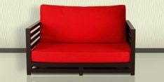 Jinjer Relaxing Two Seater Sofa in Red Colour
