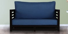 Jinjer Slatted Two Seater Sofa in Blue Colour