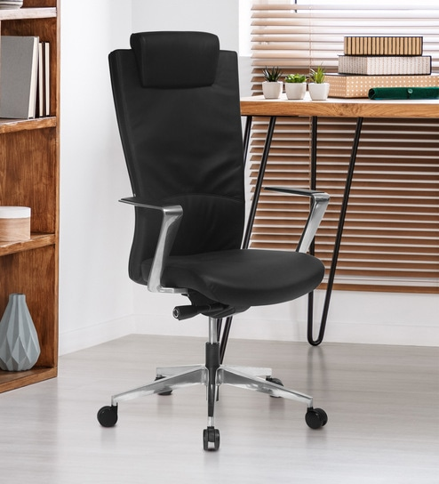 new product 1a5a9 b066a Jiffy Executive Chair in Black Colour By Nilkamal