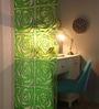Jilda Green Plexi Glass Artistically Designer Screen Dividers - Set of 10