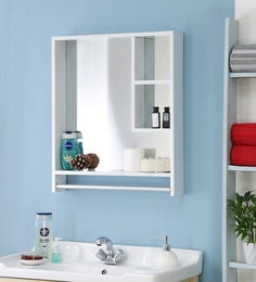 JJ Sanitaryware Aluminium White Bathroom Cabinet (Model:Gac-7)