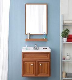 JJ Sanitaryware Aluminium Yellow Teak Bathroom Vanity (Model:JJv-5)