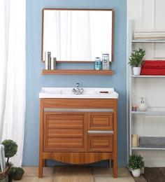 JJ Sanitaryware Aluminium Yellow Teak Bathroom Vanity (Model:JJv-7)