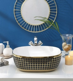 JJ Sanitaryware Ceramic Golden Wash Basin (Model:JJb-43)
