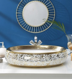 JJ Sanitaryware Ceramic Golden White Wash Basin (Model:JJb-39)
