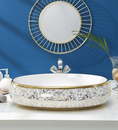 JJ Sanitaryware Ceramic Golden White Wash Basin (Model:JJb-45)