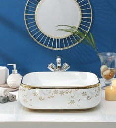 JJ Sanitaryware Ceramic Golden White Wash Basin (Model:JJb-47)