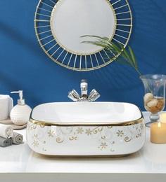 JJ Sanitaryware Ceramic Golden White Wash Basin (Model:JJb-47)