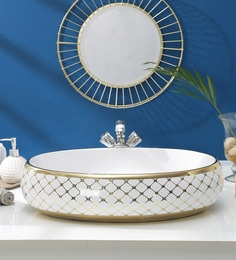 JJ Sanitaryware Ceramic Golden White Wash Basin (Model:JJb-50)