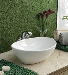 JJ Sanitaryware Ceramic White Wash Basin (Model: JJb-37)