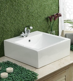 JJ Sanitaryware Ceramic White Wash Basin (Model:JJb-36)