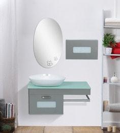 JJ Sanitaryware Silver Stainless Steel Vanity (Model: Aarya-330)